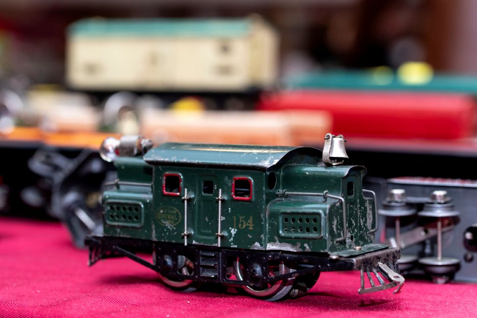 A model train on sale at the Classic Shows Model Railroad show at Zandri