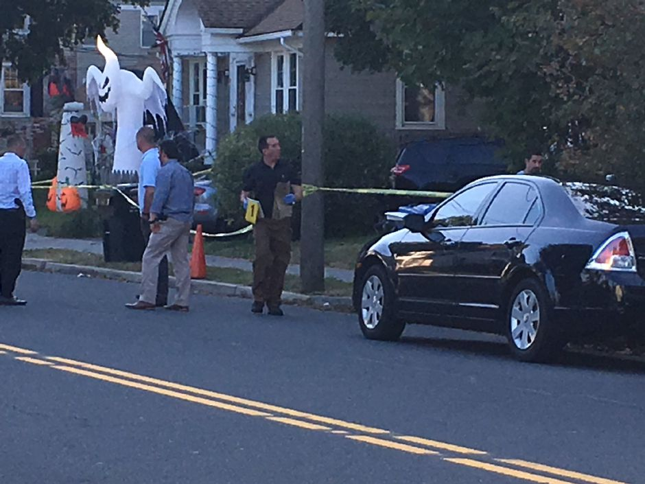 A police investigation is underway on Curtis Street in Meriden. | Ryan Chichester, Record-Journal