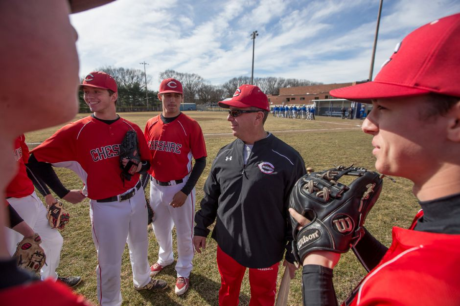 Cheshire head coach Mike Lussier has been named the Southern Connecticut Diamond Club's Coach of the Year and his Cheshire Rams have been named Team of the Year. | Justin Weekes / Special to the Record-Journal