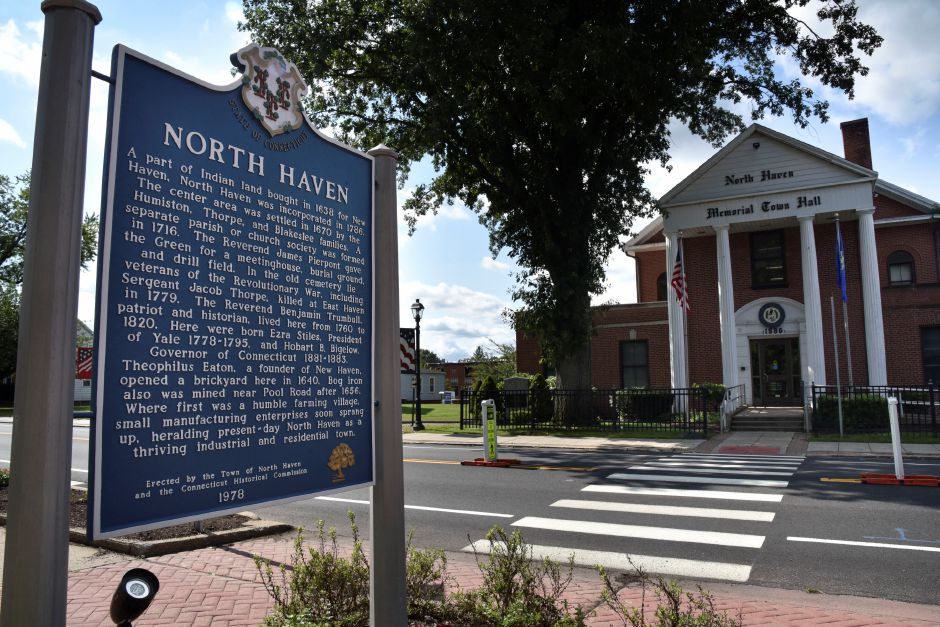 The North Haven Town Hall pictured on Thursday, Sept. 20, 2018. | Bailey Wright, Record-Journal