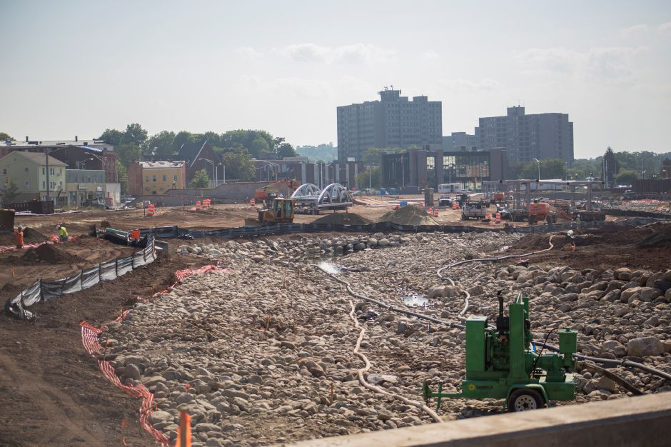 The Meriden Hub site as seen from Mill Street Tuesday Sept. 1, 2015. | Richie Rathsack/Record-Journal