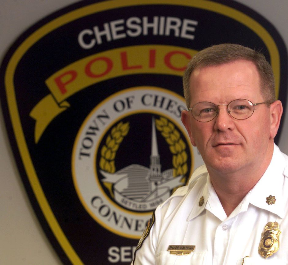 Major Gary Walberg will soon be the new chief of police in Cheshire. December 14, 2001 (for the headshot file)