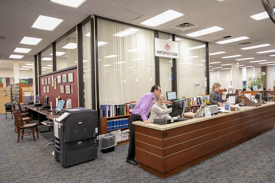 The information desk at the Meriden Public Library, Wednesday, Sept. 12, 2018. Dave Zajac, Record-Journal