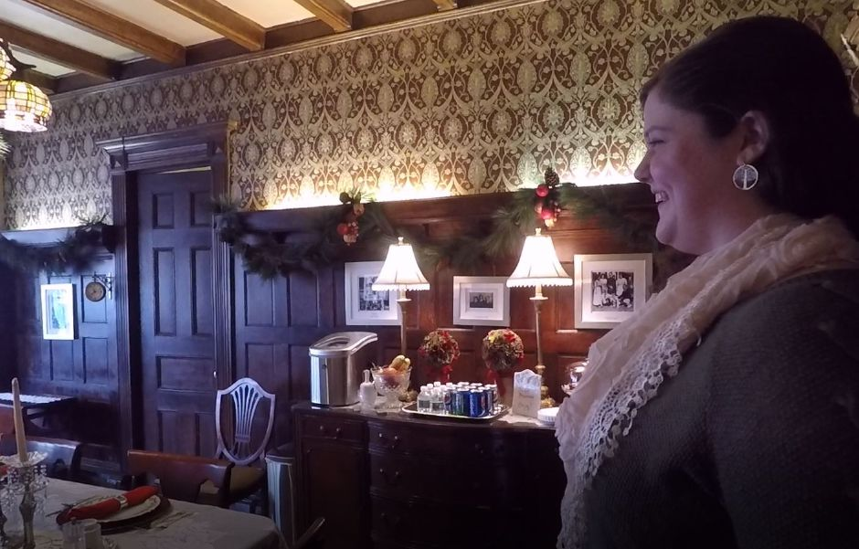 Innkeeper Kenni Ball in the dining room of The Wallingford Victorian Inn, 245 N. Main St., Wallingford. |Ashley Kus, Record-Journal