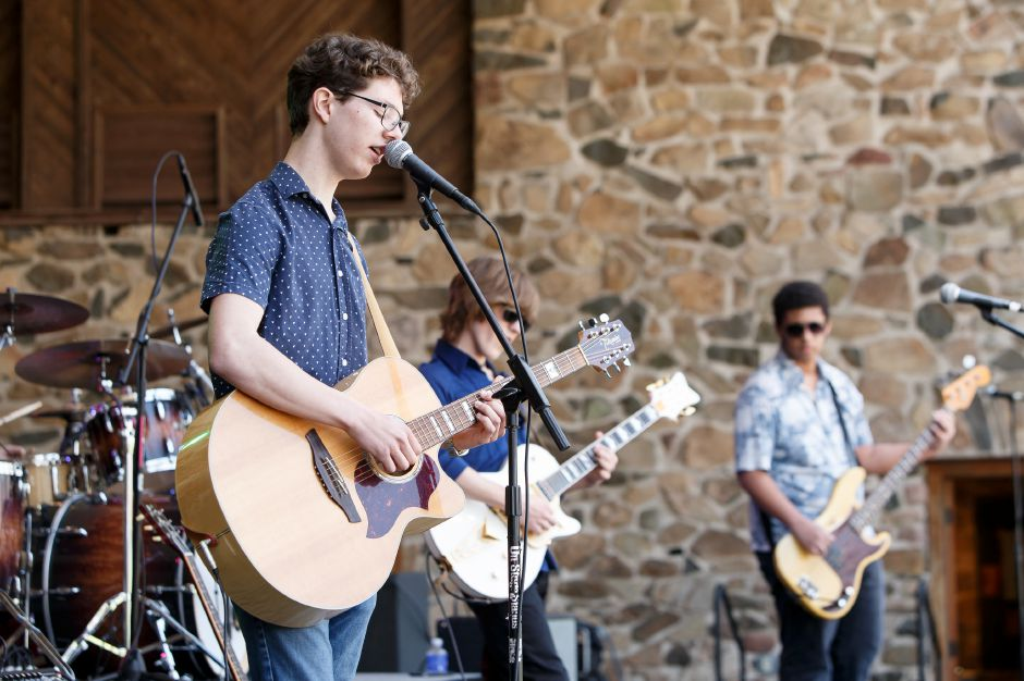 Braiden Sunshine joins Jake Kulak and the Lowdown at last year's Daffodil Festival. File photo, Record-Journal