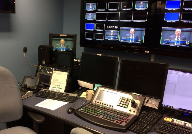 In this Thursday, Nov. 9, 2017 photo, the control room at Connecticut