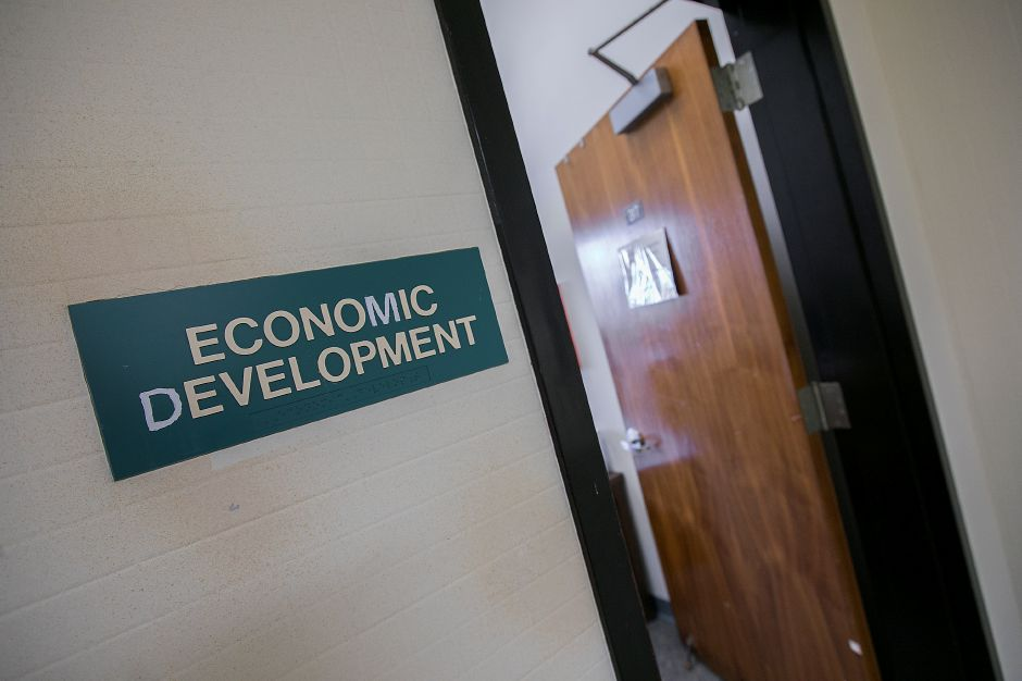 The Economic Development office at Meriden City Hall, Thursday, Nov. 9, 2017. | Dave Zajac, Record-Journal