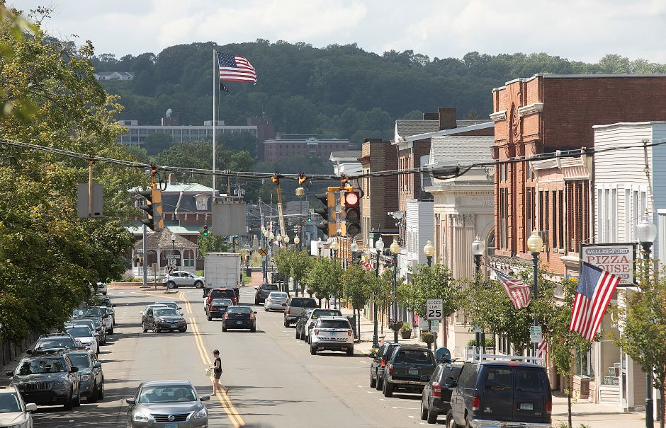 View of Center Street in Wallingford, Thursday, August 2, 2018. The Planning and Zoning Commission is considering regulations that would create a new downtown zone to stimulate economic activity in the area. Dave Zajac, Record-Journal