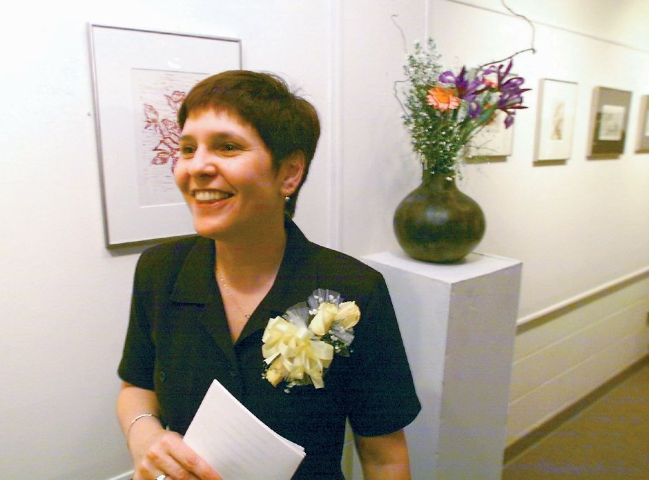 RJ file photo - Patricia Corsetti at the opening reception for her art show, May 1999.