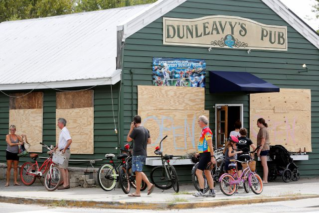 With most people off work and it looking like the Charleston, S.C., area will be spared from destructive winds many people biked to Dunleavy