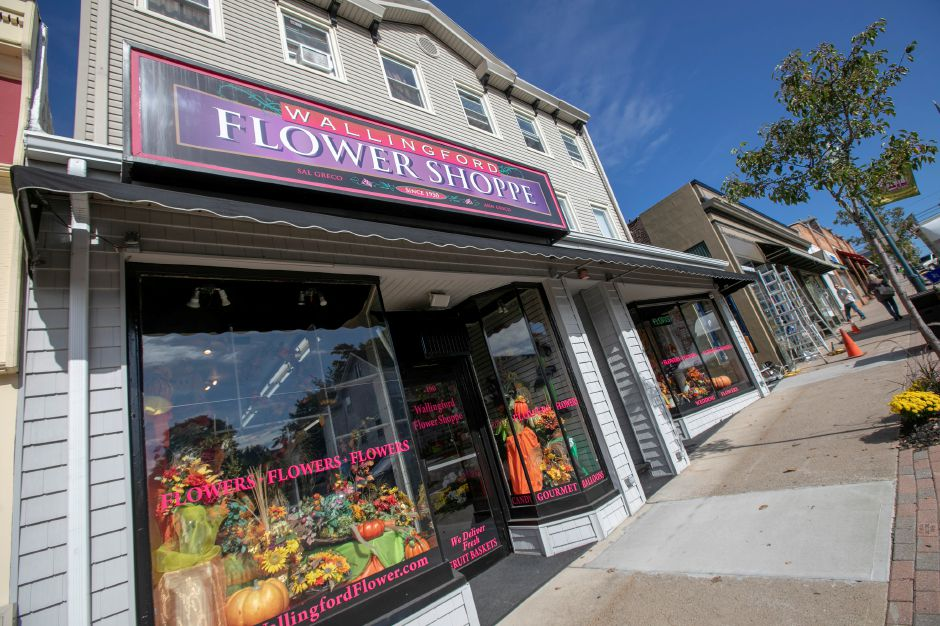 Wallingford Flower and Gift Shoppe, Friday, Oct. 5, 2018. Owner Ann Greco, 92, received a mayoral proclamation declaring Friday as Ann Greco Day in town. Dave Zajac, Record-Journal