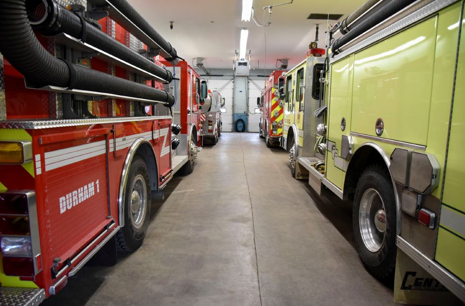 The Durham Volunteer Fire Company on Friday, Jan. 18. The town is considering a proposal that would create a public safety complex around the current firehouse at 41 Main St., that would include two neighboring parcels. | Bailey Wright, Town Times