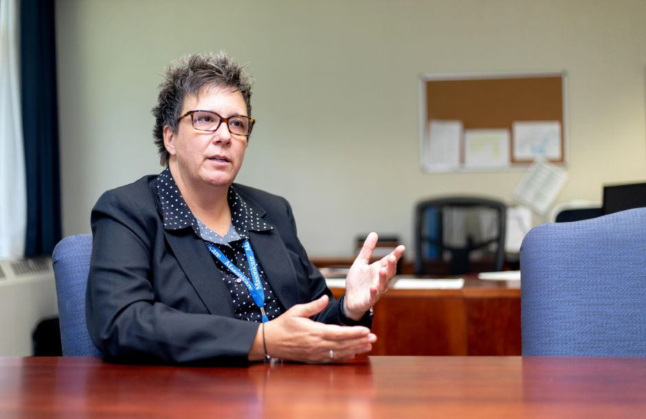 Amy Pellerin is settling into her new role as Masonicare's new Long-Term Health Care Administrator. She will handle the day to day operations of the Wallingford health care center. Devin Leith-Yessian/Record-Journal