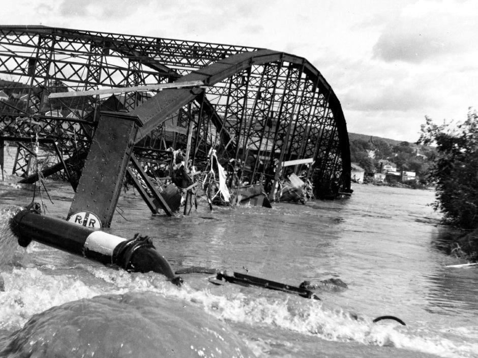 Washington Bridge-1955 flood.
