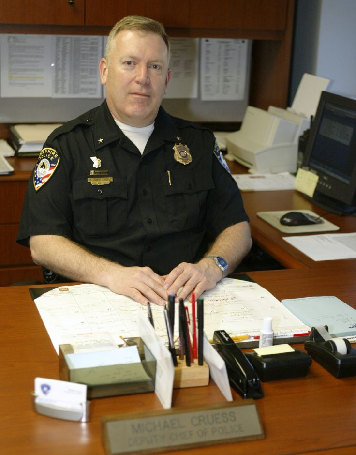 Michael Cruess, the newly appointed Cheshire Police Chief, sits in his old Deputy Chief
