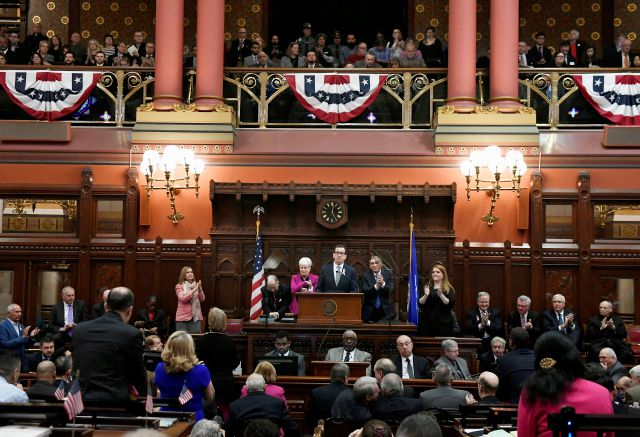 Connecticut State Capitol, Wednesday, Feb. 7, 2018 (AP Photo/Jessica Hill)
