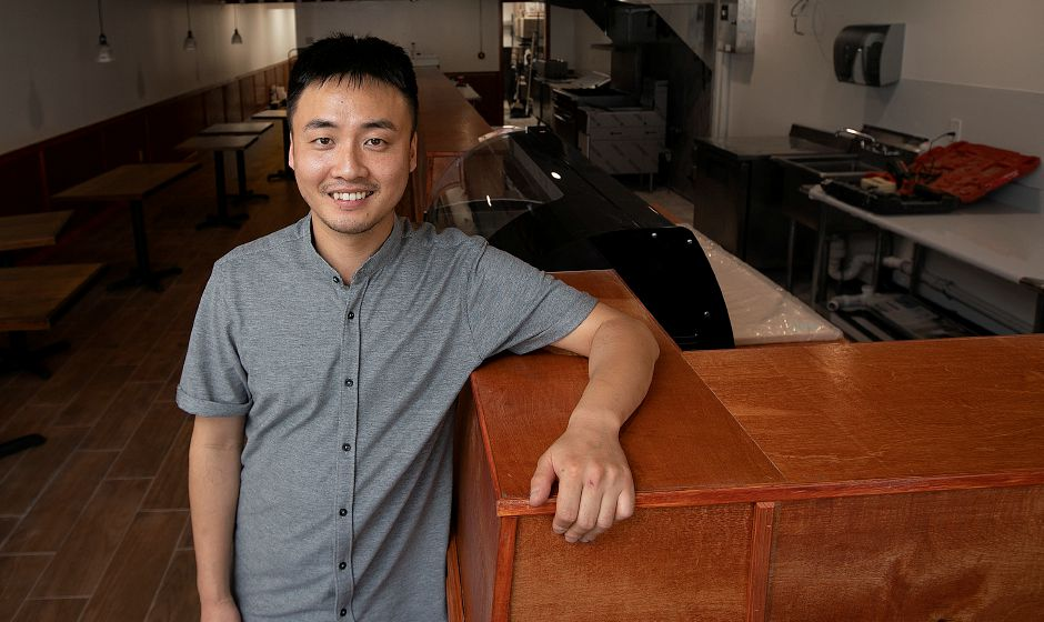 Taeho Lee, owner of Koshi Sushi and Grill, a new restaurant nearing completion at 1095 West St., Southington, Thurs., June 27, 2019. The restaurant will offer Japanese and Korean food. Dave Zajac, Record-Journal