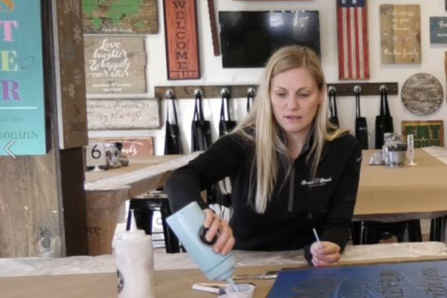 Board & Brush Creative Studio, 61 Center St., Southington. |Ashley Kus, Record-Journal