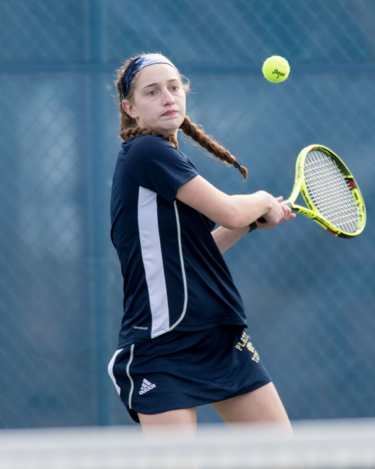Julia Misner's 8-0 victory at No. 1 singles paced Platt girls tennis to a sweep of Bloomfield on Thursday in Meriden. | Justin Weekes / Special to the Record-Journal