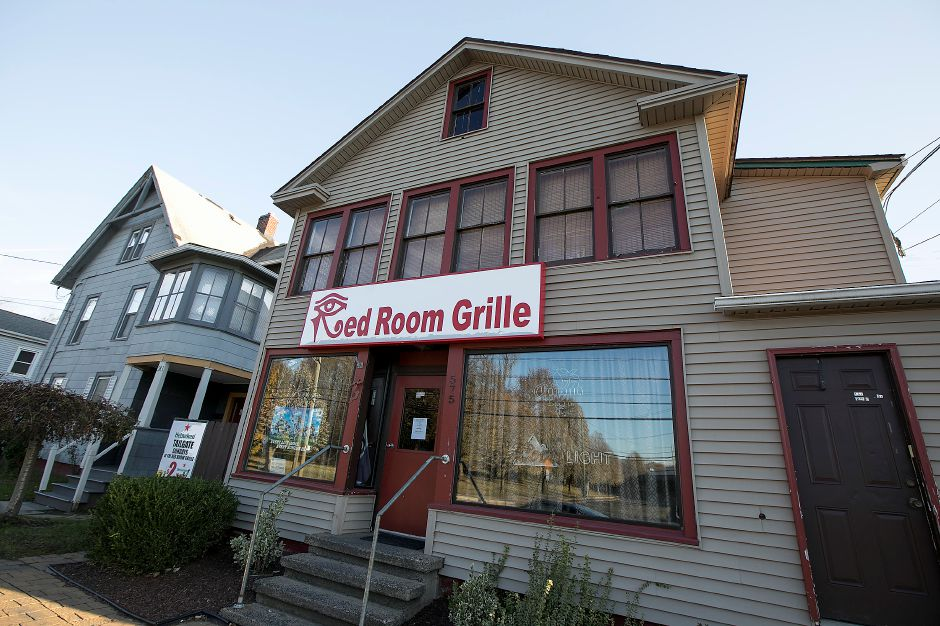 FILE PHOTO: Red Room Grille on North Colony Street in Meriden, Tuesday, Nov. 21, 2017. The state Department of Consumer Protection has issued the business a summary suspension after a man was injured in a shooting at the establishment early Saturday. | Dave Zajac, Record-Journal