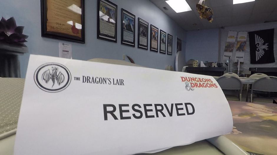 A reserved table at The Dragon