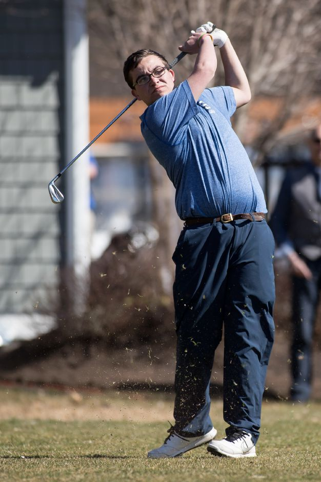 Shawn McKnerney's medal round of 39 led the Southington golf team to a 168-179 victory over Cheshire on Monday at The Farms Country Club. | Justin Weekes / Special to the Record-Journal