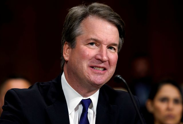 In this Sept. 27, 2018, photo, Supreme Court nominee Brett Kavanaugh testifies before the Senate Judiciary Committee on Capitol Hill in Washington. The Senate Judiciary Committee advanced Kavanaugh
