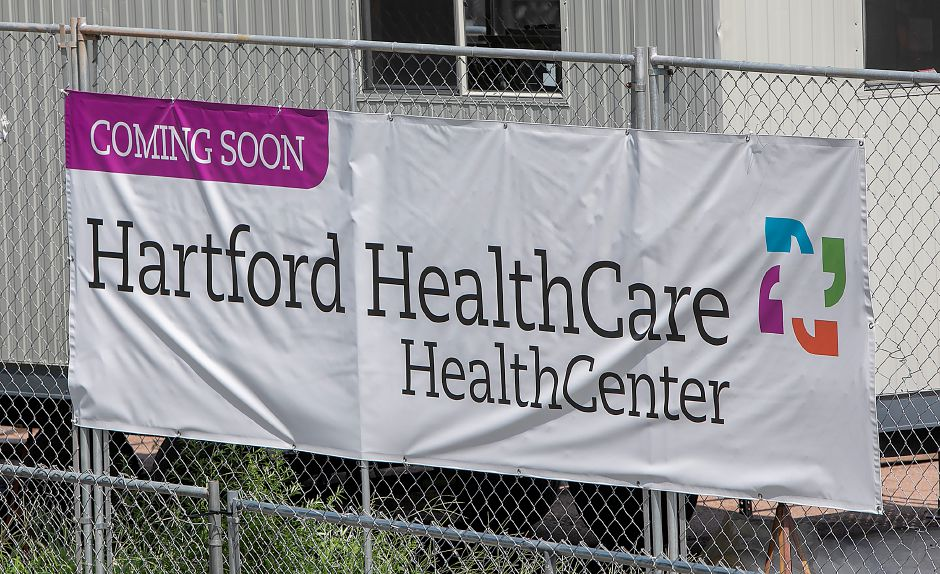 A sign posted in front of the Hartford HealthCare medical facility under construction on South Main Street in Cheshire, Wednesday, August 15, 2018. Dave Zajac, Record-Journal