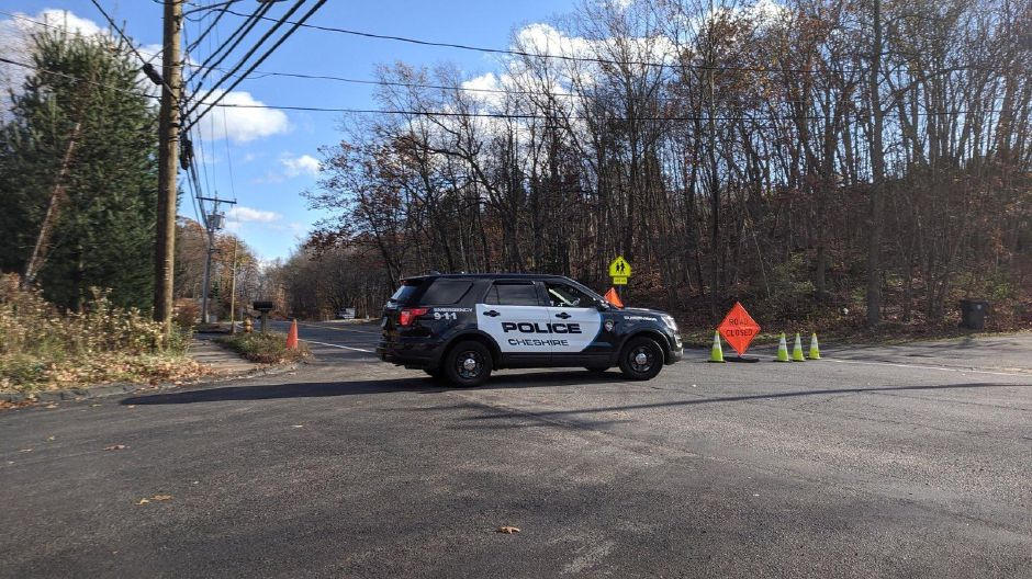 Cheshire police block off Waterbury Road to investigate a two-car crash on Friday, Nov. 7, 2019. On Tuesday, police identified the driver killed in the crash. Michael Gagne, Record-Journal