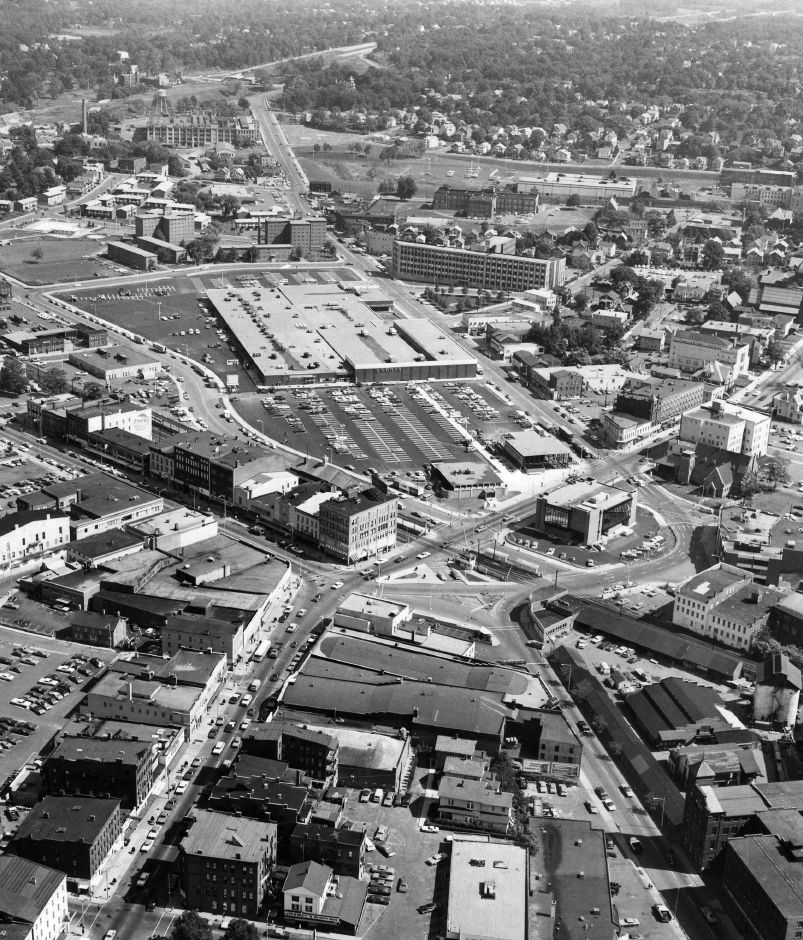 Aerial view of Meriden Hub from 1971. | Record-Journal Archives