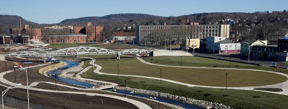 The Meriden HUB park in downtown Meriden, Tuesday, February 2, 2016. | Dave Zajac / Record-Journal