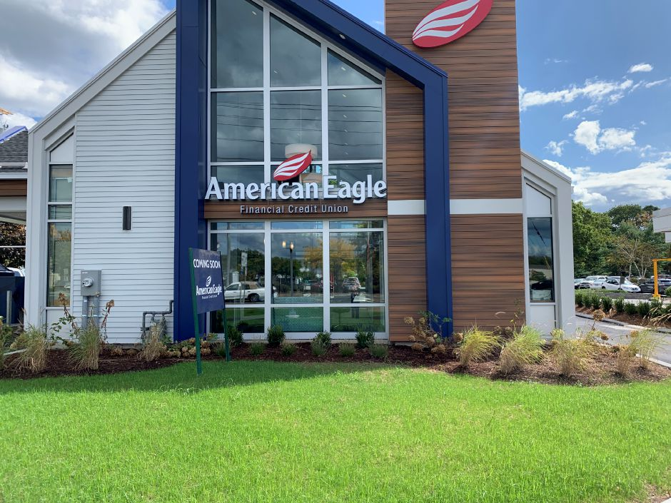 American Eagle Financial Credit Union located at 84 Washington Ave., North Haven. The credit union is expected to open on Monday, Sept. 30. Photo by Everett Bishop, North Haven Citizen.