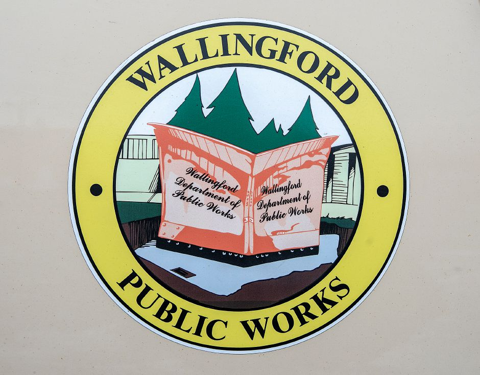Wallingford Public Works emblem on a town truck at the town garage, Fri., Jan. 18, 2019. Dave Zajac, Record-Journal