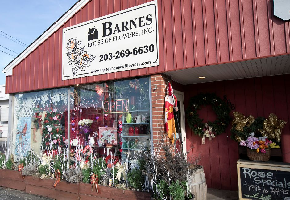 Barnes House of Flowers, Inc. in Wallingford, Tuesday, Feb. 13, 2018. The shop is busy putting together Valentine