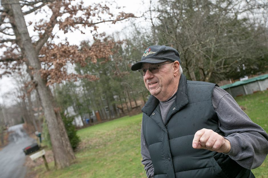 Ed Bradley, of Wallingford, expresses concern for the proposed site development of the former Bristol-Myers Squibb property, Fri., Nov. 30, 2018. Dave Zajac, Record-Journal