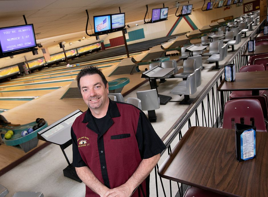 Todd Turcotte, owner of Highland Bowl, 1211 Highland Ave, Cheshire, Fri., May 3, 2019. Highland Bowl is a 20 lane family owned duckpin bowling center. Dave Zajac, Record-Journal