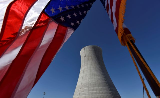 FILE - In this March 22, 2019 file photo, the construction site of Vogtle Units 4 at the Alvin W. Vogtle Electric Generating Plant is seen, Friday, March 22, 2019 in Waynesboro, Ga. The Nuclear Regulatory Commission will look at cutting back on inspections of the country's nuclear reactors. Staff recommendations made public Tuesday would reduce the time and scope of annual inspections at the nation's 90-plus nuclear power plants. Some other inspections would be cut from every two years...