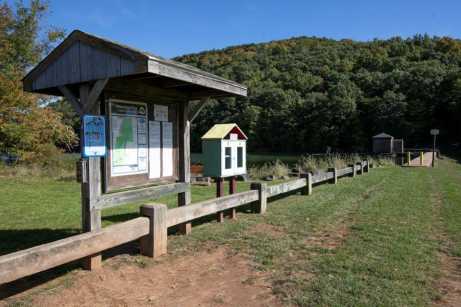 The information kiosk at Giuffrida Park in Meriden, Friday, Oct. 19, 2018. Dave Zajac, Record-Journal