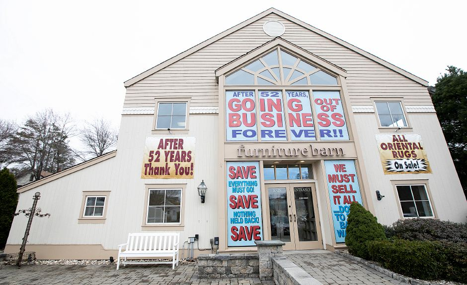 "Furniture Barn, at 535 W. Main St., in Cheshire,  is closing after 52 years. ""There isn't a market for this type of business anymore,"" said longtime owner Fred Reich, below."