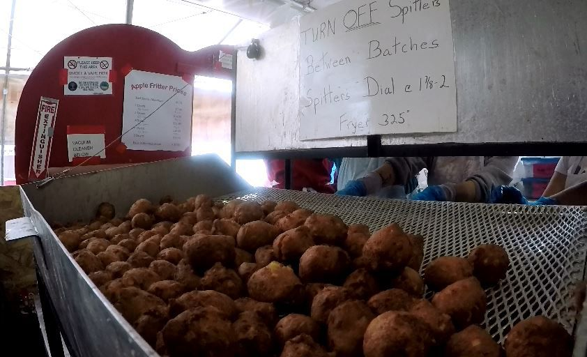 The Apple Fritter Booth at the Southington Appel Harvest Festival, Tuesday, Oct. 2. |Ashley Kus, Record-Journal