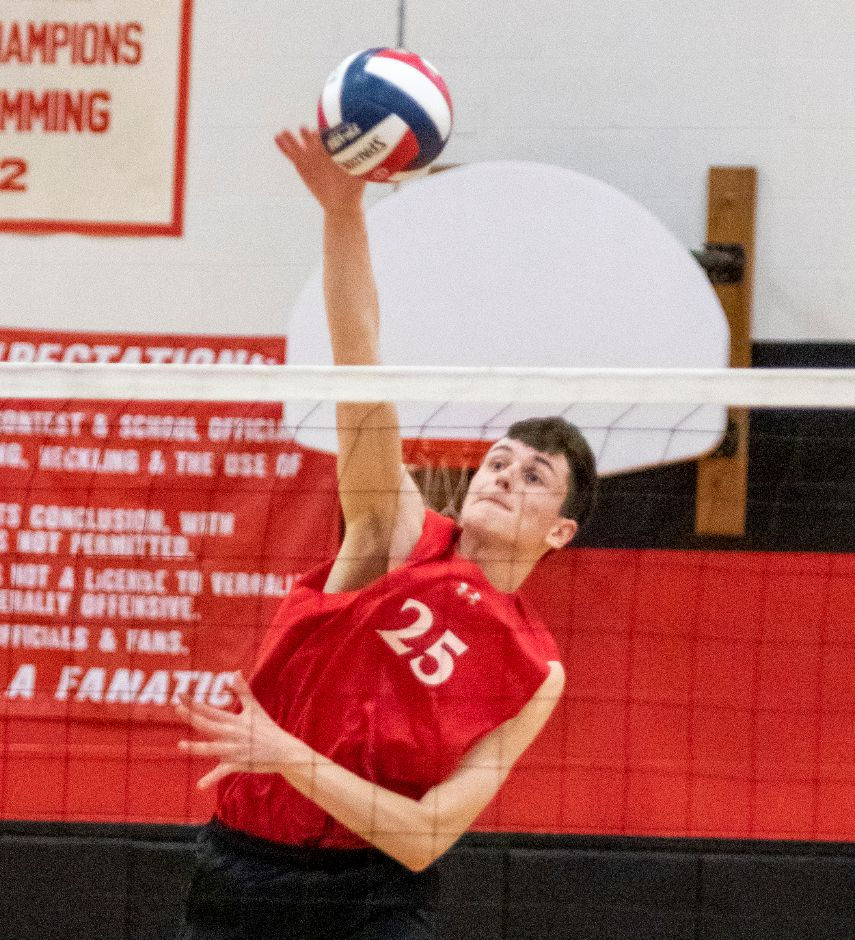 SCC Player of the Year and SCC Tournament MVP Colby Hayes leads the Cheshire boys volleyball team into Thursday night's Class M championship match in Shelton against two-time defending champion Newington.