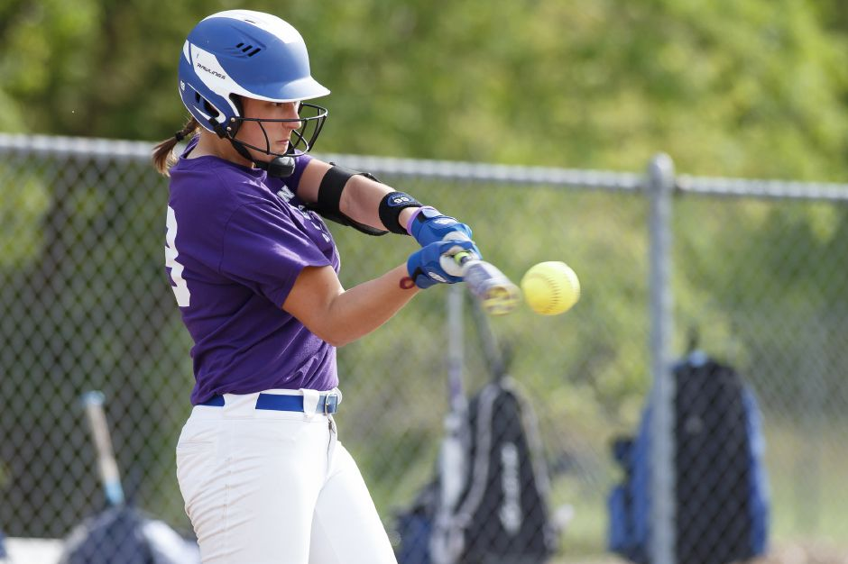 Kara Zazzaro and the Southington Lady Knights are seeded No. 1 in the CIAC Class LL softball tournament, which opens next Tuesday. | Justin Weekes / Special to the Record-Journal