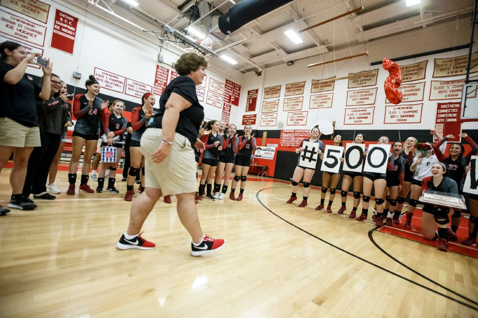 Tuesday at Cheshire High School in Cheshire October 9, 2018 | Justin Weekes / Special to the Record-Journal