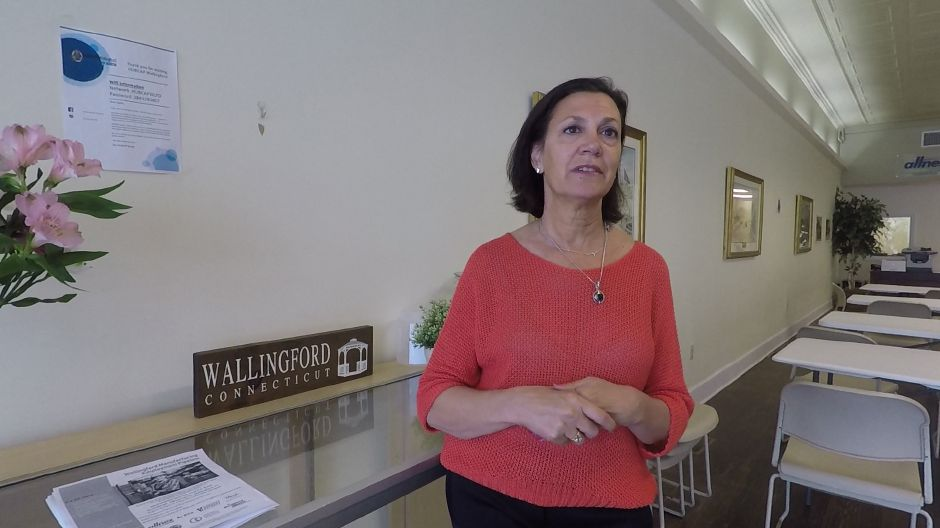 Liz Landow, executive director of Wallingford Center Inc., talks about the upcoming 7th annual Downtown Wallingford Restaurant Hop. Ashley Kus, Record-Journal