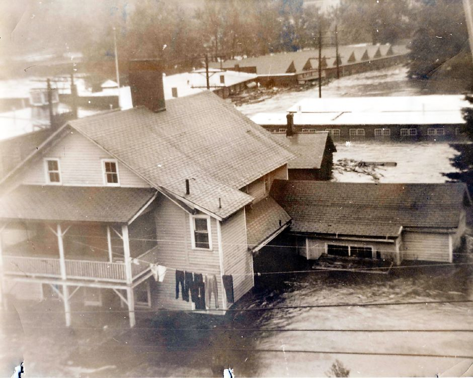 Platt Brothers under water-1955 flood.