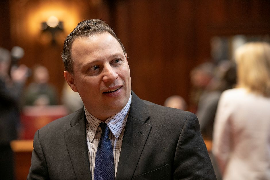 Rep. Rob Sampson during opening day of the 2019 legislative session in Hartford, Wed., Jan. 9, 2019. Dave Zajac, Record-Journal