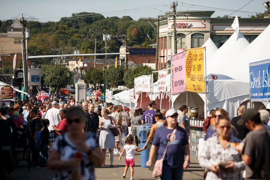 Crowds come out to the festival Saturday during the Southington Apple Harvest Festival in Southington September 29, 2018 | File photo.
