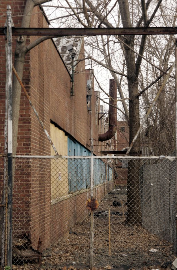 The vacant Factory H off Cooper St. in Meriden Tues. morning, March 28.