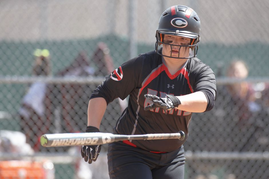 Lexie Hemstock hit one of Cheshire's three home runs in a 13-3 victory in Guilford on Friday. | Justin Weekes / Special to the Record-Journal
