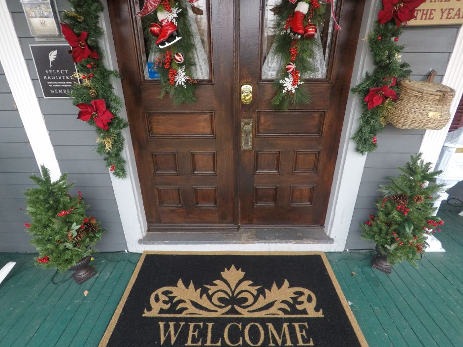 The front door of The Wallingford Victorian Inn, 245 N. Main St., Wallingford. |Ashley Kus, Record-Journal